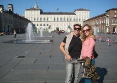 On tour in Turin, Italy with MCDC